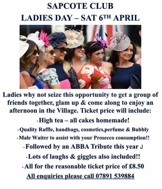 Sapcote Club Ladies Day 2019